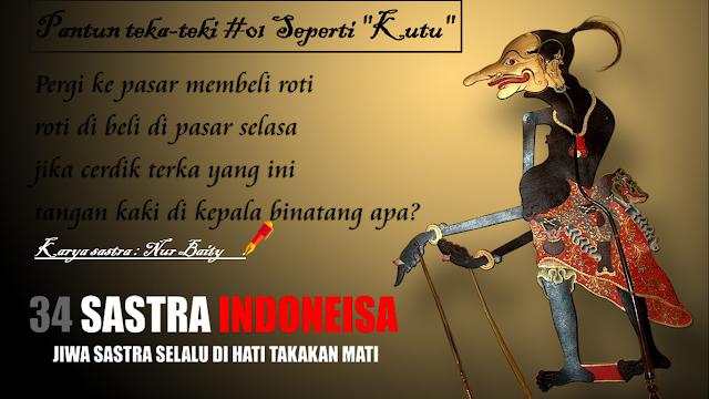 "Pantun teka-teki #01 Seperti ""Kutu"" | 34 Sastra Indonesia"