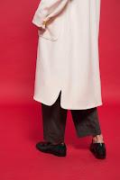 午後的費南雪有機棉長版外套衣服細節
