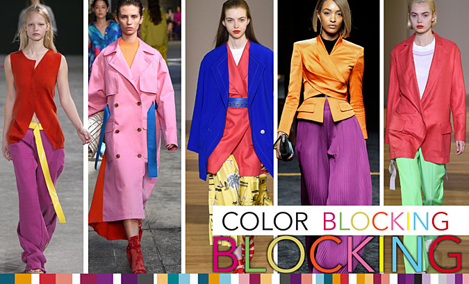 color blocking 2018