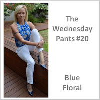Sydney Fashion Hunter - The Wednesday Pants #20 - Blue Floral