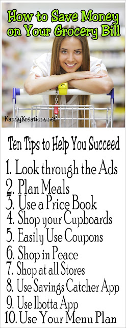 Save money on your grocery bill with these 10 easy tips.  Make these money saving tips a part of your shopping routine and you'll be surprised how much you save.