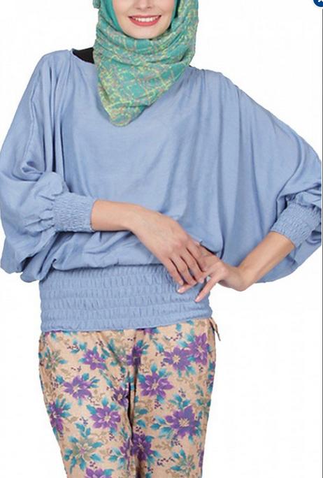 Gambar Model Baju Hamil Muslim Atasan Modis