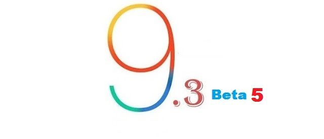 Apple has released the fifth beta version of iOS 9.3 to developers just week ago after the release of 4th beta version of iOS 9.3 for public testers