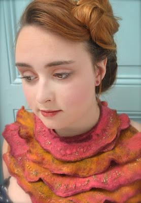 Plastron en laine feutrée mérinos- cathy Vagnon