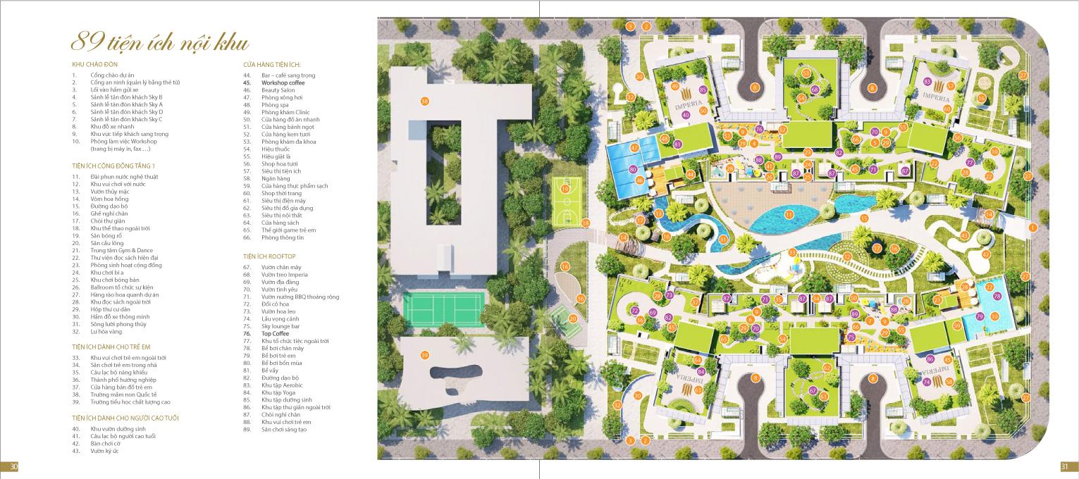 Tiện ích nội khu dự án Imperia Sky Garden
