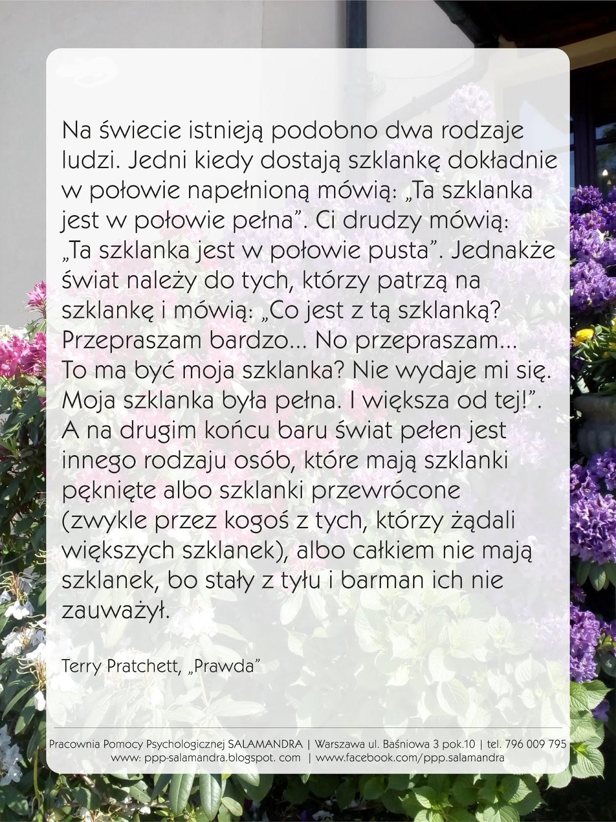 Dobry psycholog Warszawa i Pratchett o poczuciu wartości