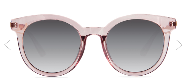 Elaine round sunglasses in pink | Almost Posh