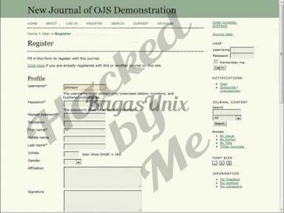 Cara hack dan deface web dengan teknik ojs atau open journal system dengan exploit data.