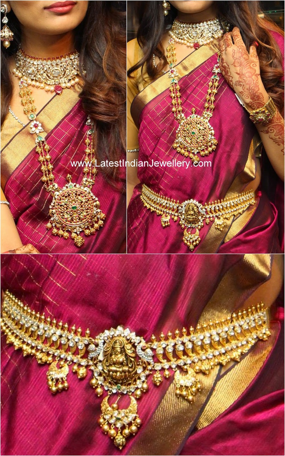 Model In Polki Diamond Bridal Jewellery Latest Indian