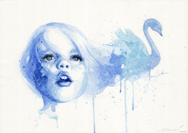 Sabina Sykorova watercolor paintings