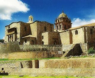 Vista Posterior do Qorikancha ou Convento de Santo Domingo, Cusco