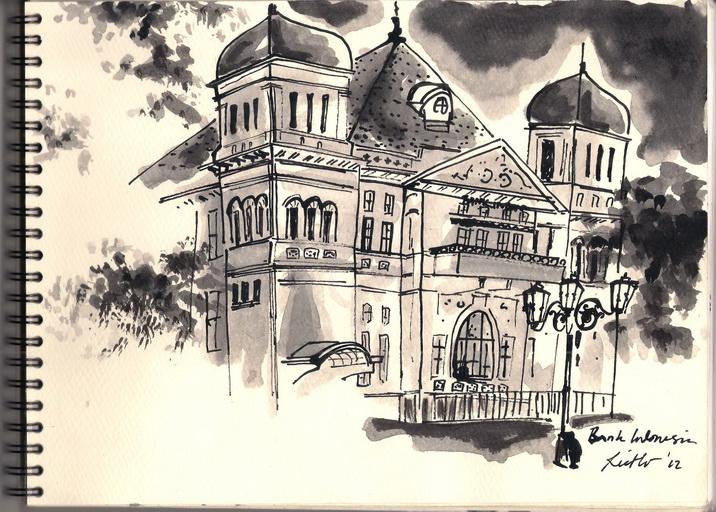 Richo Docs Artwork Sketsa Heritage Di Sekitaran Malioboro