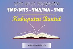 HASIL UN SMK Kabupaten Bantul Tahun 2015 – 2017
