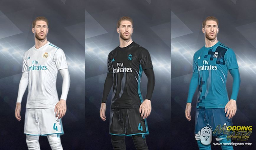 PES 2018 Real Madrid 2017-2018 CPK Kits by apinkinka