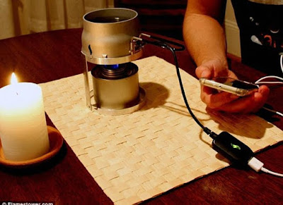 طريقة شحن هاتفك عن طريق شمعة