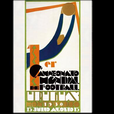 Logo Piala Dunia FIFA Tahun 1930 Uruguay