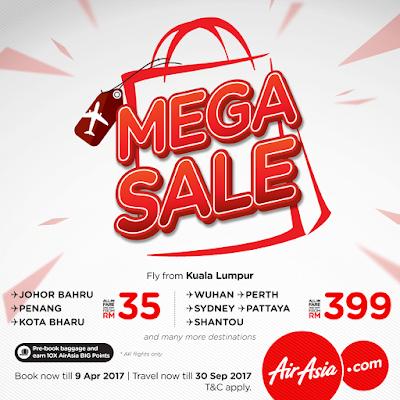 AirAsia Mega Sale Flight Ticket Discount Promo