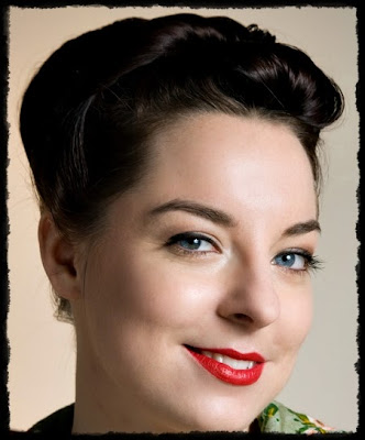 vintage simple hairstyles - cute easy updo