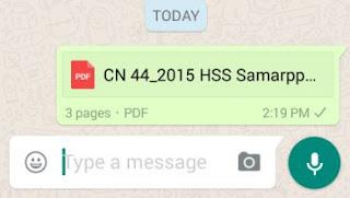 Uploaded whatsapp document