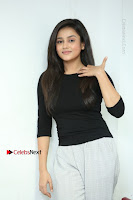 Telugu Actress Mishti Chakraborty Latest Pos in Black Top at Smile Pictures Production No 1 Movie Opening  0213.JPG