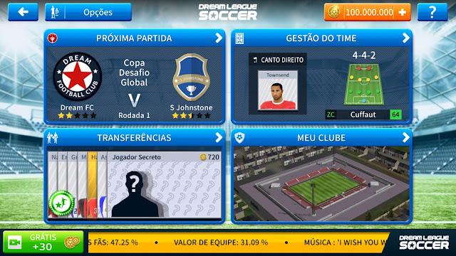 baixe de graça o dream league soccer 2019 atualizado com mod hacker de dinheiro infinito no winew.