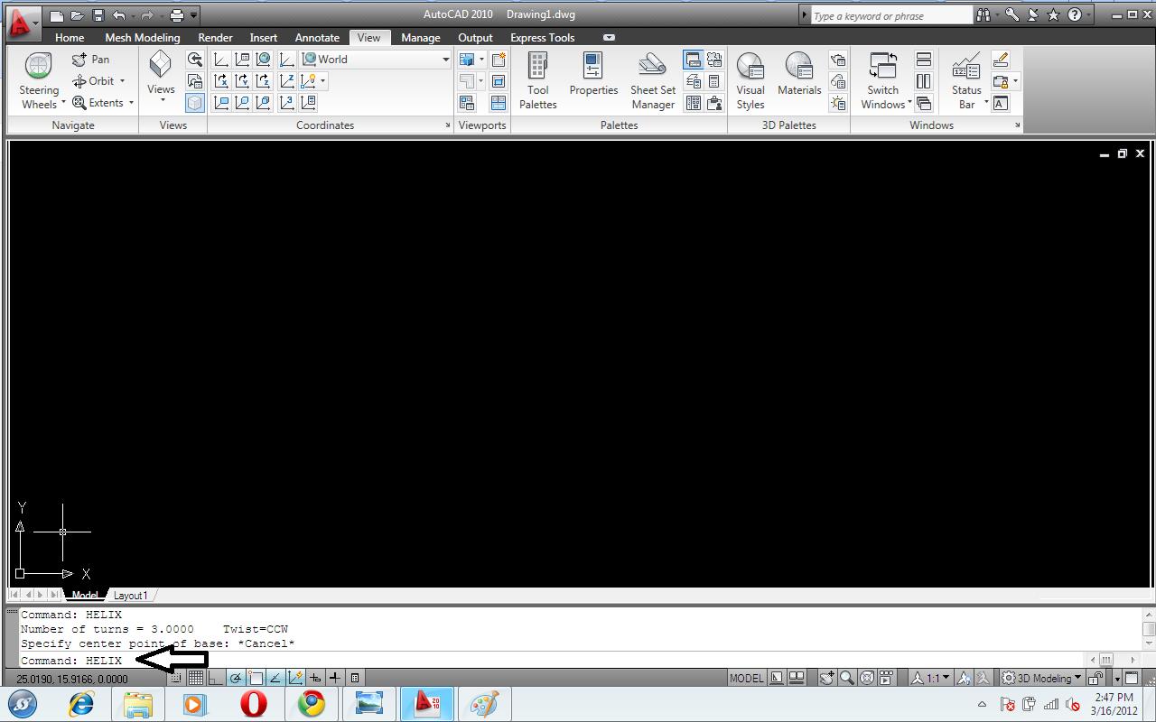 Auto CAD Tricks: How to 3d spring using autocad
