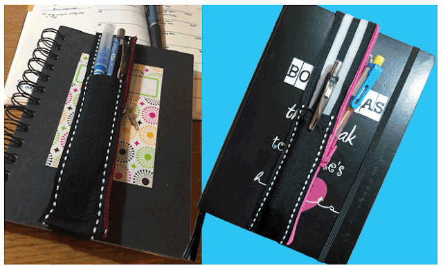 Two notebooks with pen holders