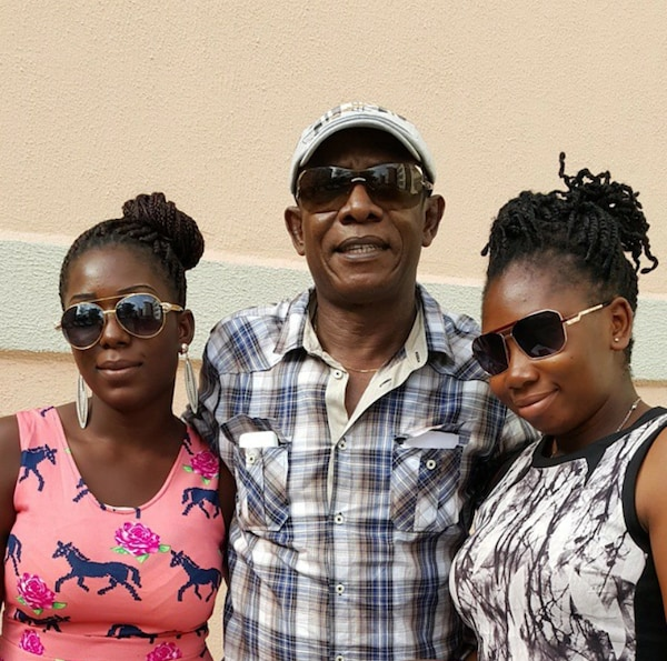 Nkem Owoh and his lovely wife and beautiful daughters