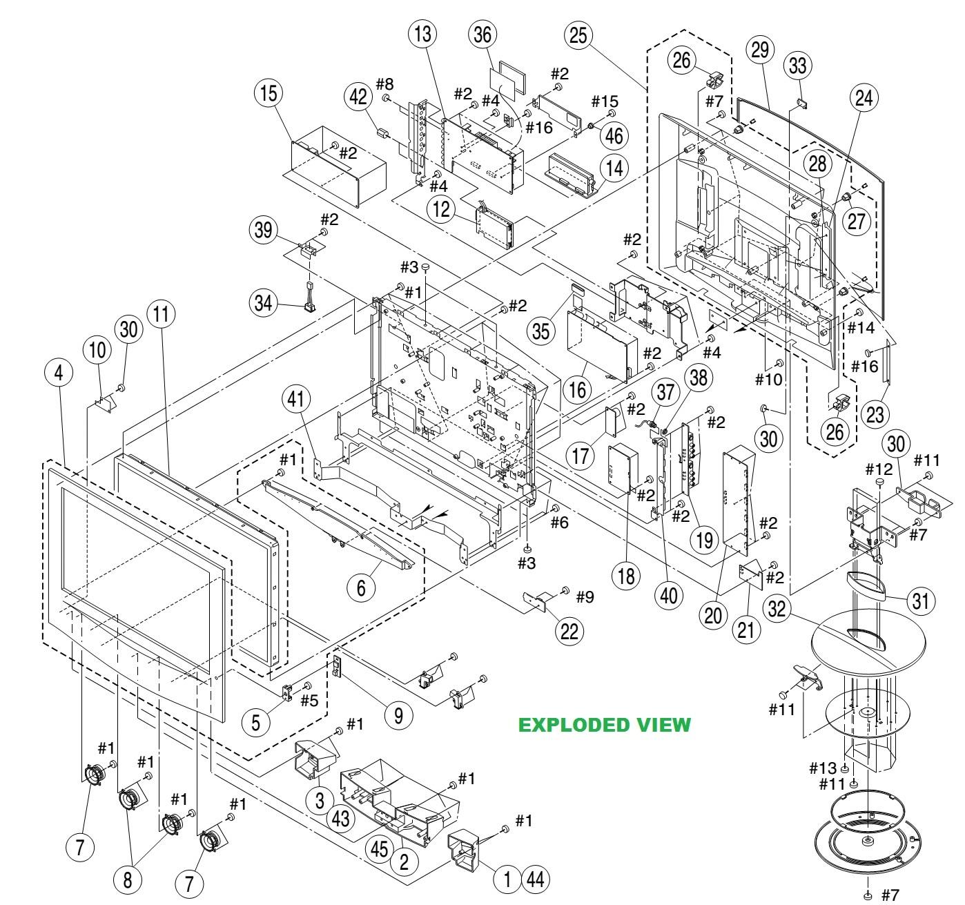 sony lcd tv diagram