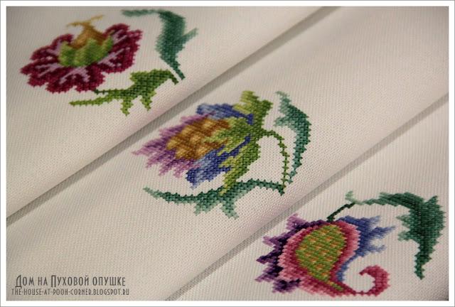 вышивка маленькие цветочки