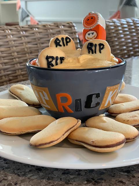 Pumpkin, cream cheese, spices for a cookie dip