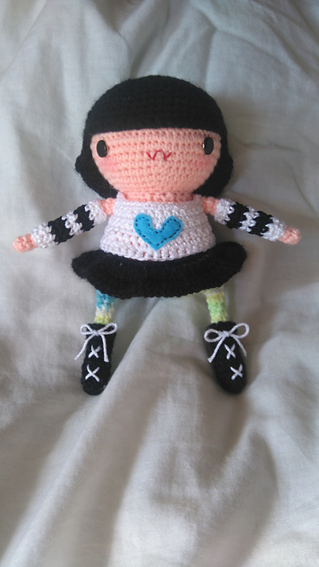 Crochet Pattern Wednesday Addams Amigurumi gothic doll whimsical ... | 640x360