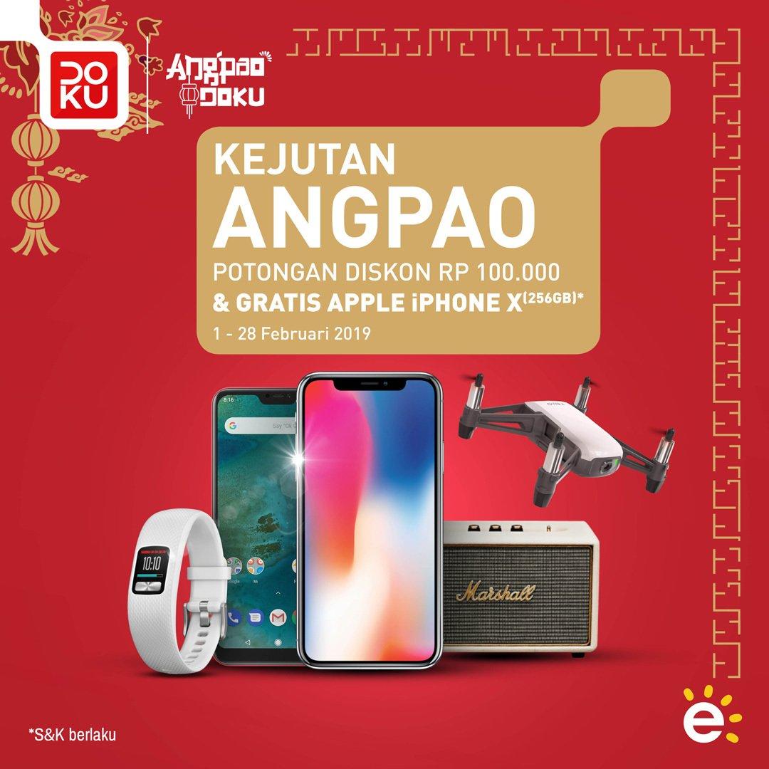#Erafone - #Promo Kejutan Angpao Potongan Harga 100K & Hadiah Iphone X (s.d 28 Feb 2019)