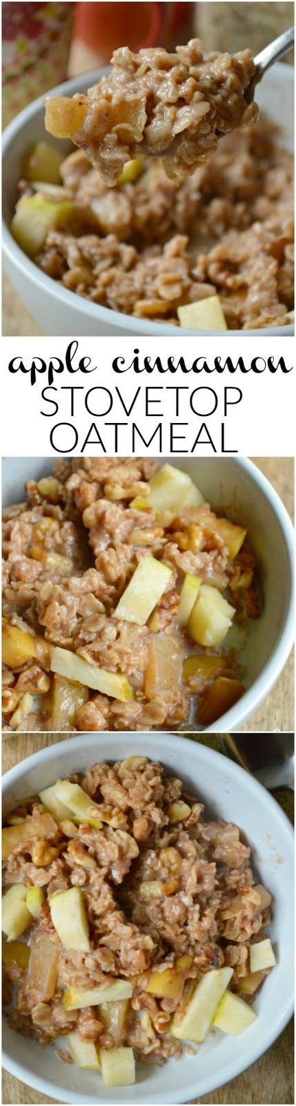 Apple Cinnamon Stovetop Oatmeal
