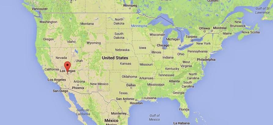 Mapa De Las Vegas Nevada in Las