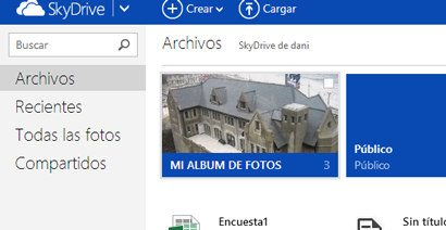 album fotos skydrive