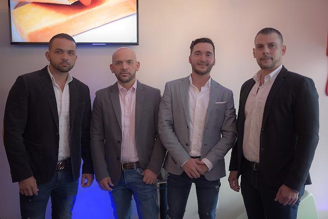 Jesualdo Cammara, Eumir Guaregua, Roberto Rosas y Aldo Cammara