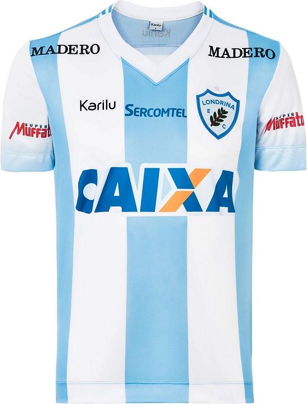 fa1ee83f1 Karilu divulga as novas camisas do Londrina - Show de Camisas