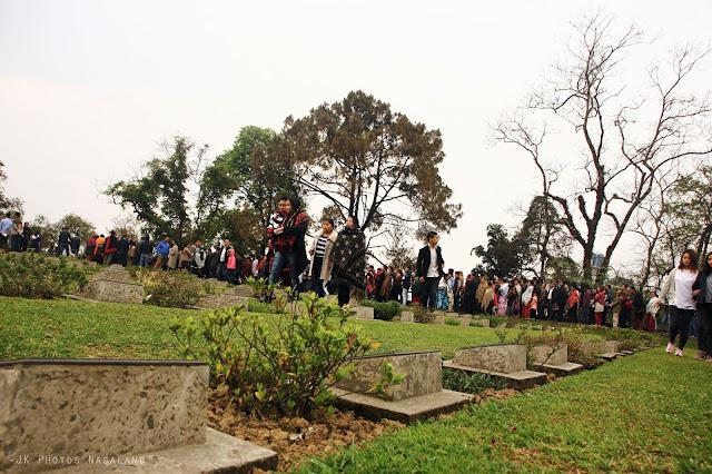 Easter sunday sunrise service WWII cemetery kohima