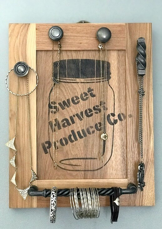Repurposed cabinet door.