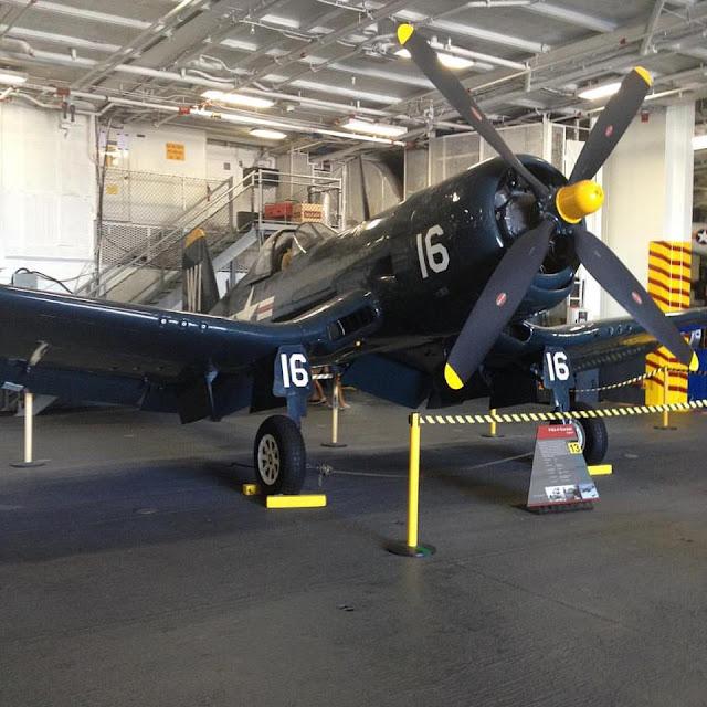 F4U corsair aircraft at USS Midway