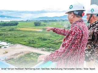 Arief Yahya Pastikan Pembangunan Fasilitas Pendukung Pariwisata Danau Toba Sesuai Rencana