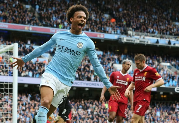 Leroy Sane struck twice for City as they thumped Liverpool 5-0 in a commanding performance last weekend