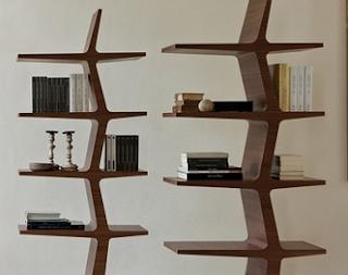 desain rak buku minimalis