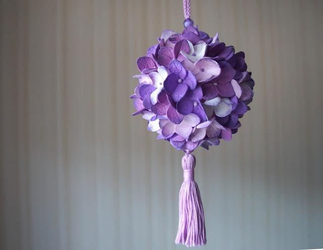 интерьерный шарик с цветами