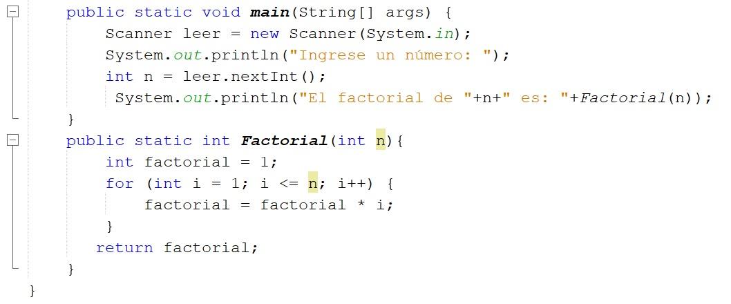Cómo calcular factorial de un número en Java