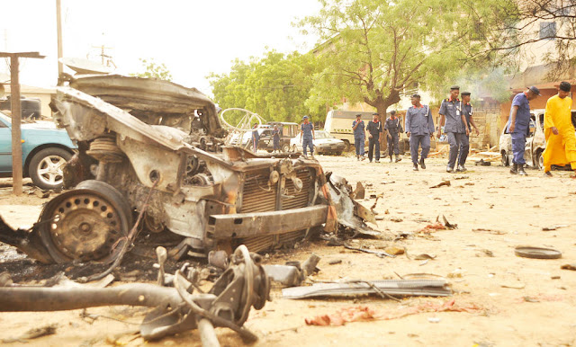 Nigerian suicide bomber strikes with baby strapped to her back