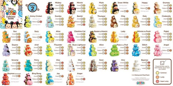 Disney Tsum Tsum Series 2 Checklist
