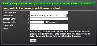 Langkah 4 Form Pendaftaran TNI AD AL AU
