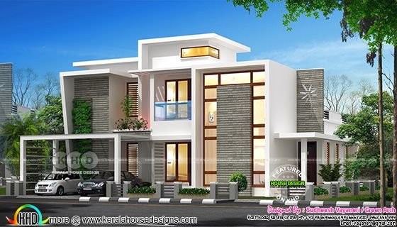 1750 square feet 4 bedroom contemporary villa plan